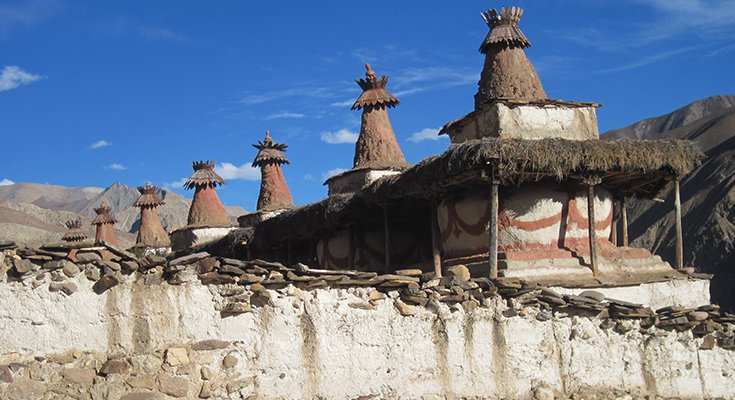 Chhortens of Yangjer Gompa Image